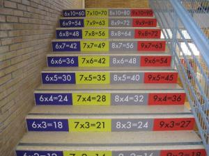 Tablas multiplicar en Escalera_F_Ratia
